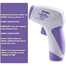 SIGMA Make Digital Infrared Thermometer Non-contact IR Infrared (Temperature Meter) HT - 668, With 3 Color LCD Display with Warranty