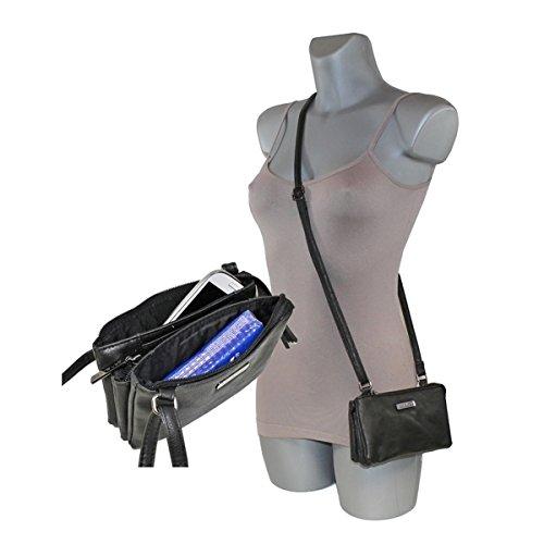 New Bags Mini-Ausgehtasche Handtasche Umhängetasche klein Schwarz