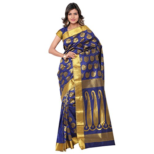 Varkala Silk Sarees Silk Saree With Blouse Piece (Ss3110Rb -Royal Blue)