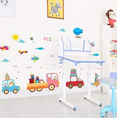 xutongrui 30X90 cm Cartoon Tiere zug flugzeuge Brief ballon wandaufkleber für kinderzimmer kinder wandtattoo Kinder Party Home Decor - Ballon X Brief