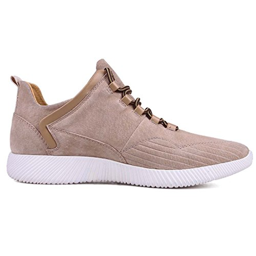 ZXCV Scarpe all'aperto Scarpe sportive Uomo casual scarpe da ginnastica scarpe da uomo in pelle traspirante Albicocca