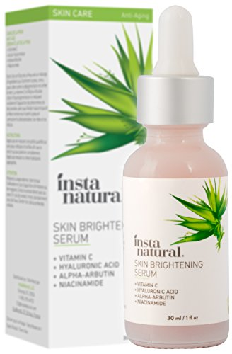 InstaNatural Vitamin C Brightening Serum for Skin - Anti Wrinkle Serum, Expression Lines, Hyperpigmentation and more - Formula that eliminates dark circles and signs of aging - With Hyaluronic Acid and Niacinamide - 30 ml