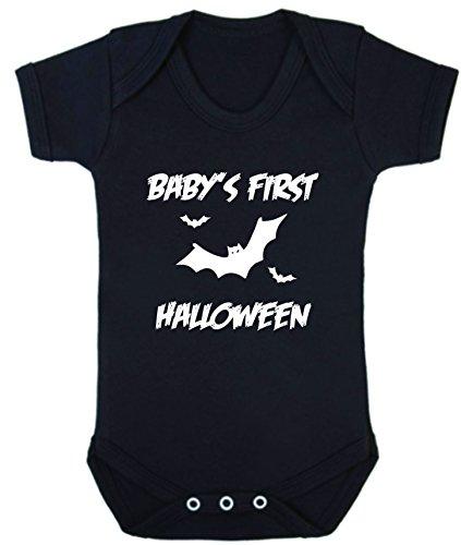 First Halloween Short Sleeve Strampler schwarz schwarz 18-24 Monate (Vater Kleinkind Halloween Kostüme)