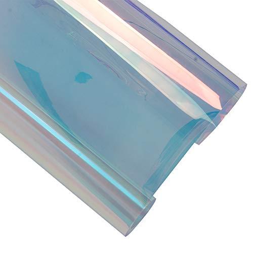HOHO 138x 200cm Chameleon Farbe Sichtschutz Fensterfolie UV-Schutz Fenster Aufkleber Tint für Office Home Glastür -