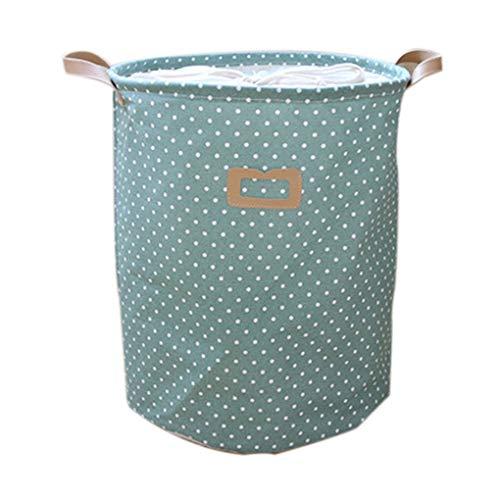 Kakiyi Dot Wäschekorb-Beutel-Kleidung Storage Baskets Startseite Kleidung Barrel Kinder Spielzeug-Speicher-Wäsche-Container -