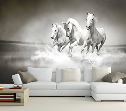 photo wallpaper mural Dream White Horses paper print art non-woven wall decor XXL   sample 50 x 35cm - 1 strips   paper