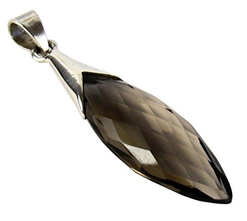 Unique colgante para la mujer cuarzo ahumado plata de ley 925 joyeria de calidad