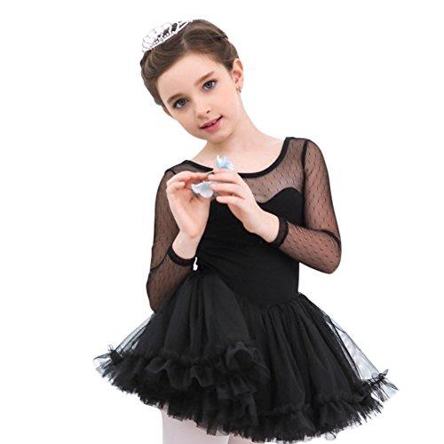 4-14 Jahre Mädchen Kind Ballett Ballettröckchen Trikotanzug Rock Tanz Kleider