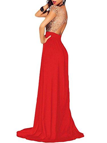 emmarcon Damen Kleid * Einheitsgröße Rot
