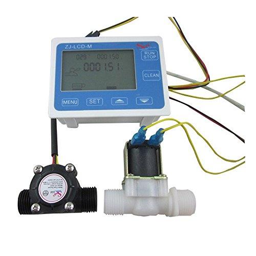 Preisvergleich Produktbild digiten G1 / 5, 1 cm Wasser Flow Control LCD Display + FLOW SENSOR Meter + Magnetventil Gauge New