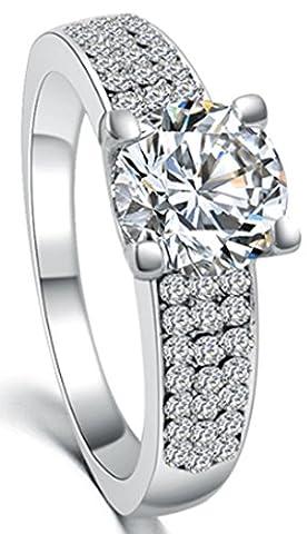 SaySure - Austria Crystal Ring Jewelry wedding engagement (SIZE : 9)