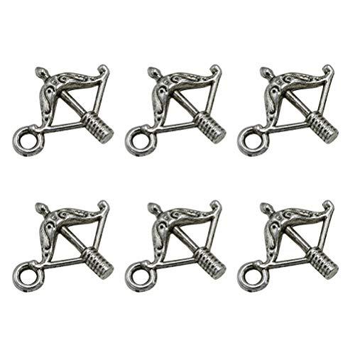 Fenical 100 stücke Pfeil und Bogen Legierung Anhänger Charms DIY Schmuckherstellung Zubehör für Halskette Armband (Antik ()