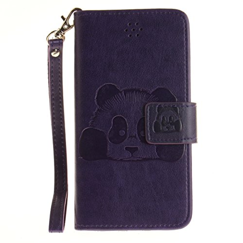 Ekakashop Custodia iphone 7 4.7 inch, Cover iphone 7 2016 model, Elegante borsa Custodia in Pelle Protettiva Flip Portafoglio libro Case Cover per Apple iphone 7 4.7 inch / con Carte Slot / Chiusura M Viola