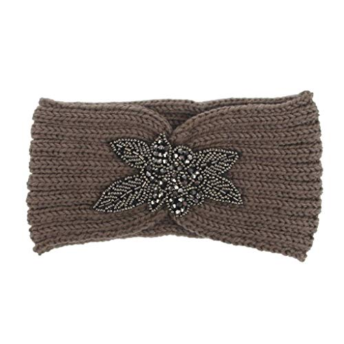 Sasstaids Haarschmucks Frauen Knitting Headband Handmade Keep Warm Hairband