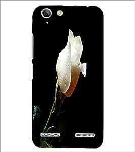 PrintDhaba White Rose D-2002 Back Case Cover for LENOVO LEMON 3 (Multi-Coloured)