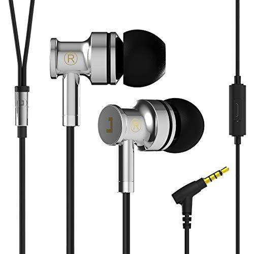 Jayfi JA40 Bass HiFi Stereo In-Ear Kopfhörer Geräuschisolierung Ohrstöpsel Ohrhörer aus Gesundem Metall mit Mikrofon Schwarz