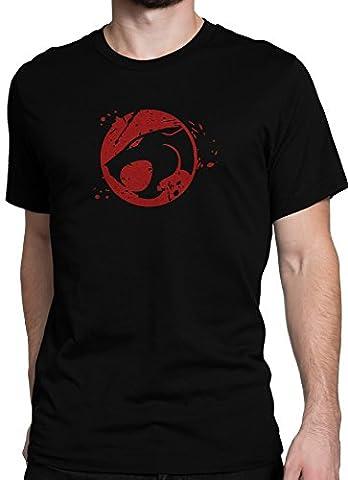 ThunderCats Kult Zeichentrick Retro Comic Serie / Premium Fun Motiv T-Shirt XS-5XL mit Aufdruck / Ideales Geschenk, Color:Schwarz,