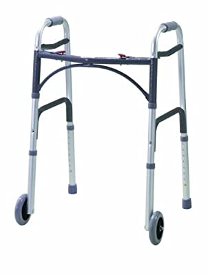 Drive DeVilbiss Healthcare Folding Lightweight Aluminium Walking Frame with Wheels