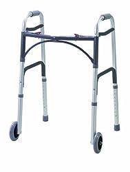 Drive Medical WA009 Gehhilfe mit Vorderrädern, zusammenklappbar