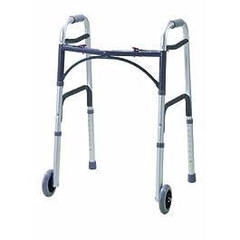 Drive Medical WA009 – Deambulatore con rotelle anteriori, richiudibile, vinile