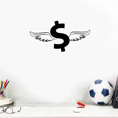 wandaufkleber 3d Wandaufkleber Schlafzimmer Geflügelter Dollar-Geld-Reichtum-Glück