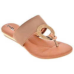 Zori Girls Casual Golden Leather Bellies - 7 UK