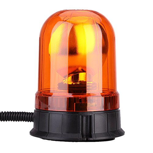 KKmoon car Warning Light High Power LED Car Vehicle Amber Dual Flash Warning Light with Magnetic Mount Beacon Strobe Emergency Alarm Lamp