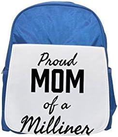 Proud Mom of a Milliner printed kid's Bleu  backpack, Cute backpacks, cute small backpacks, cute Noir  backpack, cool Noir  backpack, fashion backpacks, large fashion backpacks, Noir  fashion backpack   Outlet Store