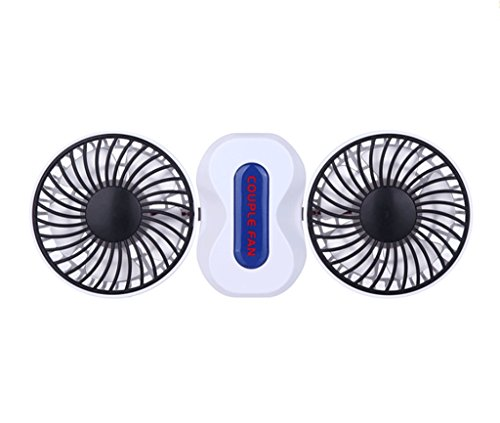 LLN Mini Portable Handheld Schreibtisch USB Fan Dual-Blatt Dual-Motor Fan Große Wind Silent Fan Für Zuhause, Büro, Schule, Schlafsaal, Outdoor Camping