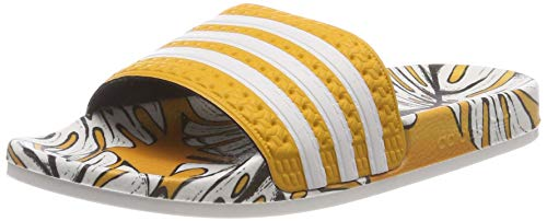 Adidas Adilette W, Damen Dusch- & Badeschuhe,Gold (Craft Gold/Off White/Craft Gold), 44 1/2 EU