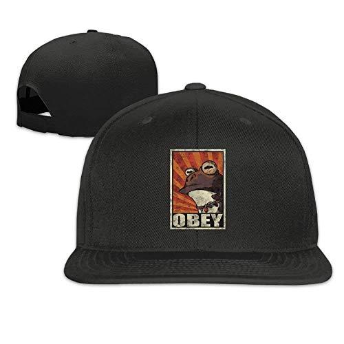 Imagen de bgejkos funny frog obey hypnotoad flat bill snapback ajustable camper cap hat natural qw507