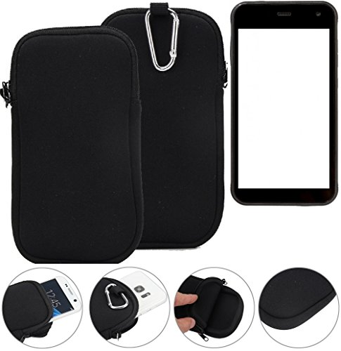 K-S-Trade Neopren Hülle für Cyrus CS 22 Schutzhülle Neoprenhülle Sleeve Handyhülle Schutz Hülle Handy Gürtel Tasche Case Handytasche schwarz