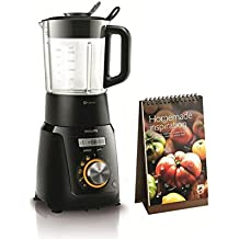Philips HR2099/90 - Robot de cocina, 1100 W, 40 programas, jarra 2 l, con tecnología ProBlend, color negro