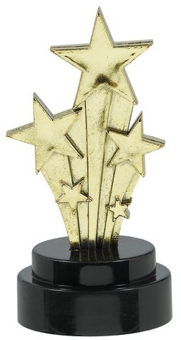 Pack of 6 Award Trophies - ideal for Hollywood parties