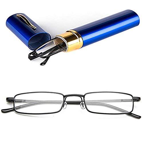 YUNCAT Herren Damen Lesebrille Metall Klassische Scharnier Schmal Stil Brille Lesehilfe Augenoptik Vollrandbrille Mit Etui