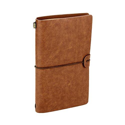 XUAN Notizbuch Vintage Leder, Nachfüllbar Traveler's Notebook mit Pocket Schönes Reisetagebuch zum selberschreiben Tagebuch Organizer Travel Journal Geschenk für Männer Frauen erwachsene Retro Braun