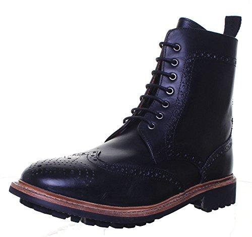 Reece Justin Dylan renforcées en cuir GoodYear mat pour chaussures Black FA