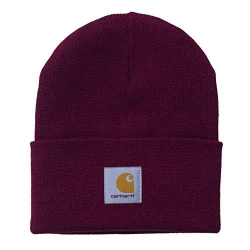Carhartt WIP Damen und Herren Acrylic Watch Hat Winter Strickmütze Unisex Beanie Mütze -Rot 8391 (Carhartt Mütze Watch Herren)