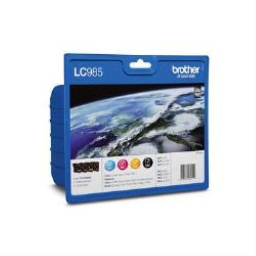 Preisvergleich Produktbild Brother lc-985valbp Tintenpatrone schwarz, blau, rosa, gelb