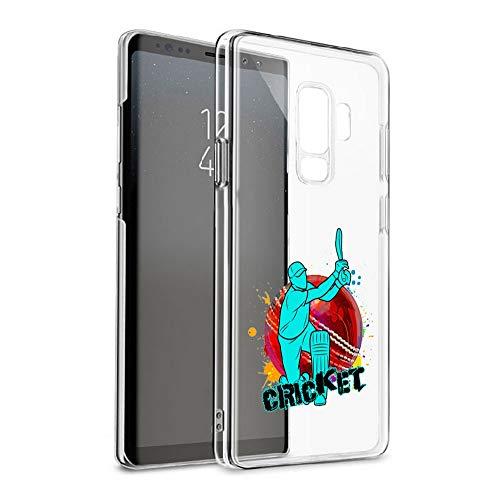 GlamCase Schutzhülle für Galaxy S9 Plus, Motiv Cricket-Spieler, transparent (Cricket-spieler)
