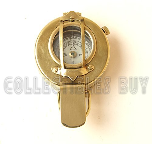 Vintage Military sichtfensters Marine Kompass Messing 2,5 Pocket Antik Gerät