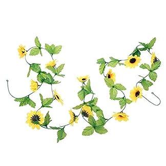WopenJucy Guirnalda de Girasol Artificial, Flores de Seda Falsas para Colgar en casa, Hotel, Oficina, Boda, Fiesta, jardín, Arte