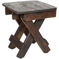 Table/Tabouret en bois (30x30x30 cm), ciré et huilé, Thai Design
