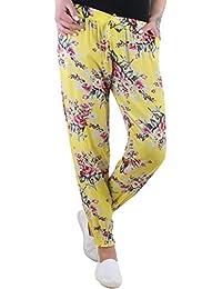 BD Pumphose Baggy Sommerhose Strandhose im Harem Stil mit Blumen-Muster Stretch onesize 34-42