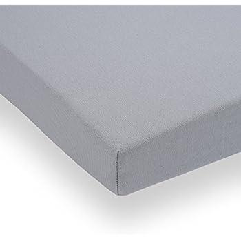 Doppelpack FabiMax 3675 Jersey Spannbettlaken Fur 6 Eck Laufgitter Grau