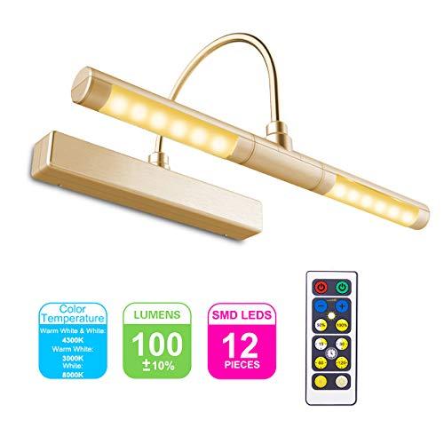 HONWELL-Luz LED Inalámbrica a Batería con Control Remoto, Cabezal de Luz Giratorio de 13 Pulgadas...
