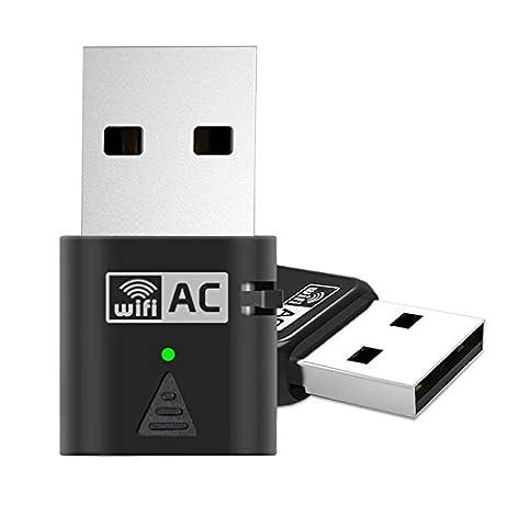 Adaptateur réseau USB, Amotus Adaptateur AC600 Dual Band Wireless 600Mbps 802.11ac Nano Wifi Dongle pour (Dual Band Wireless Desktop Antenna)