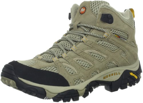 Merrell Women s Moab Ventilator Mid Hiking Boot Taupe 7 B(M) US
