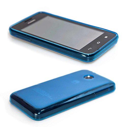 caseroxx Huawei Ascend Y330 TPU-Bumper aus TPU, stoßfeste Schutzhülle Smartphone (Handyhülle TPU in blau)