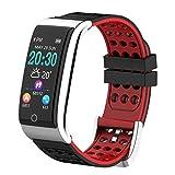 JASSH Smart Wristband, Mit Herzfrequenz ECG/PPG Blutdruck Monitor Color Screen Fitness Tracker Pedometer Waterproof Sport Smart Band für IOS Android,A